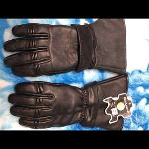 Two piece biker gloves